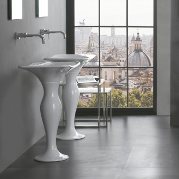 Olympia ceramica free standing washbasin