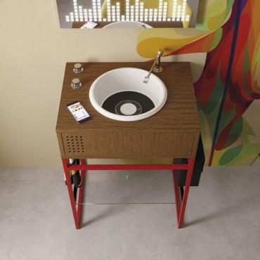 mobile bagno design moderno Vynil Olympia - lavabo singolo