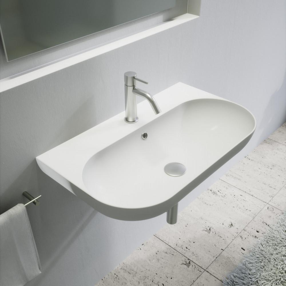 Specchio Per Lavandino Angolare lavandino sospeso o lavabo appoggio milady 70 olympia