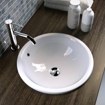 Vasques à encastrer en céramique pour salle de bain Olympia