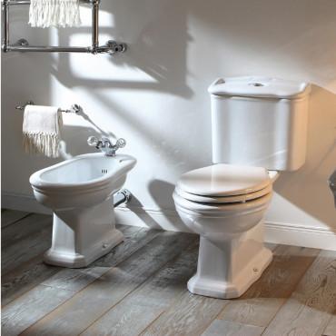bidet et WC monobloc avec réservoir et bouton de vidange Olympia Ceramica Empire