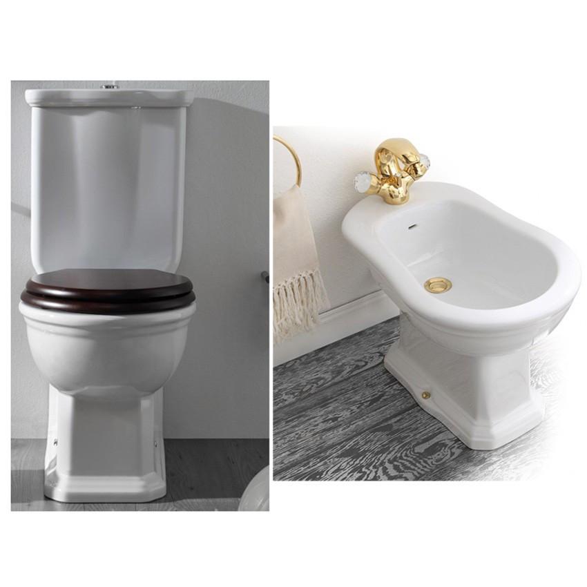 réservoir de toilette extérieur monobloc Olympia Empire céramique