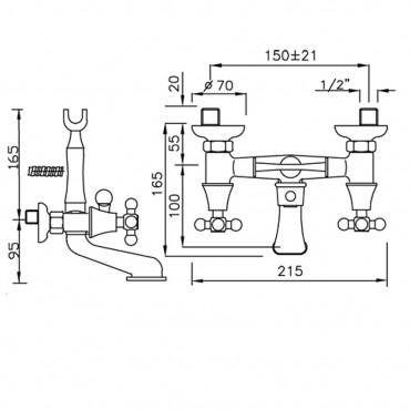 rubinetteria per vasca da bagno Gaboli Flli rubinetteria