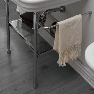 bathroom vanity unit with metal structure Impero Olympia Ceramica