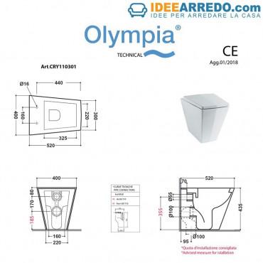 mesures sanitaires dos au mur Crystal Olympia ceramica