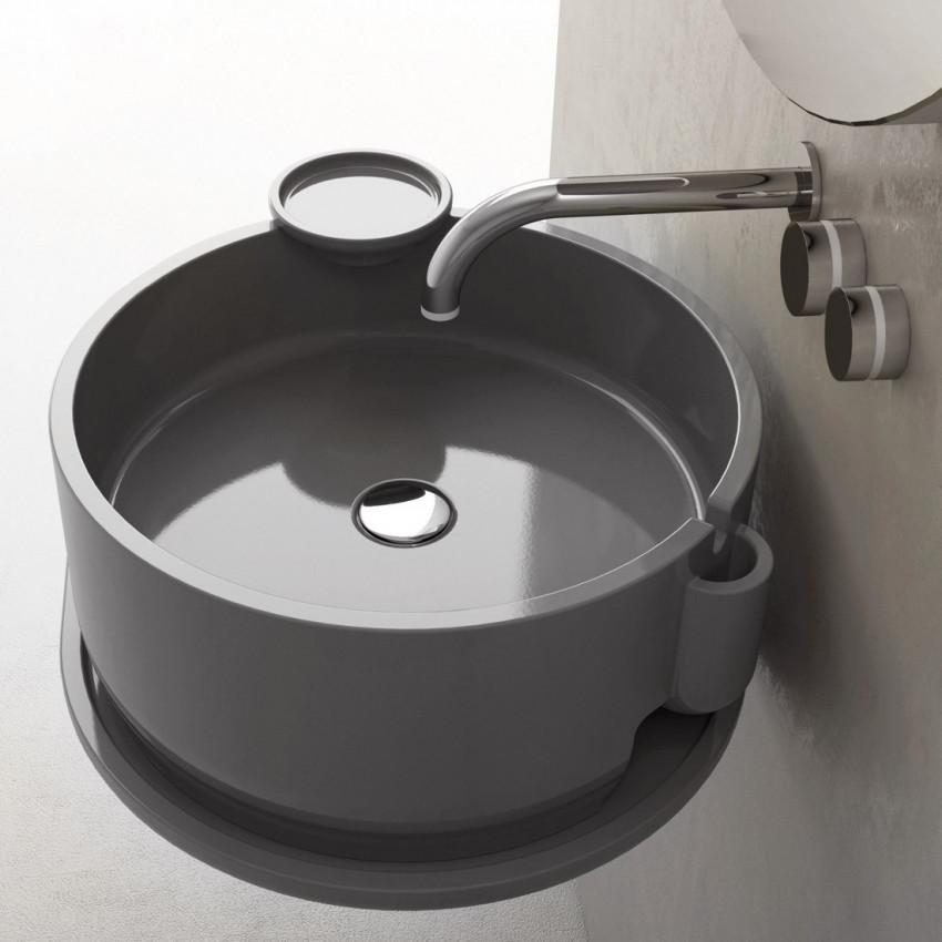 Lavabo da appoggio tondo Ukiyo-E Olympia Ceramica