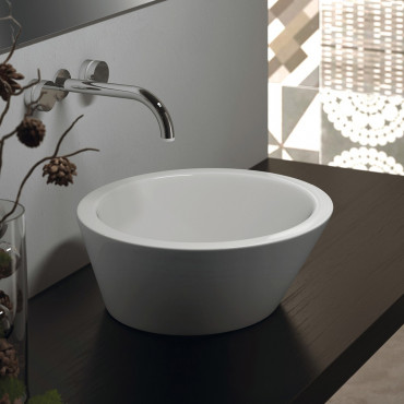 Olympia ceramica round countertop washbasins