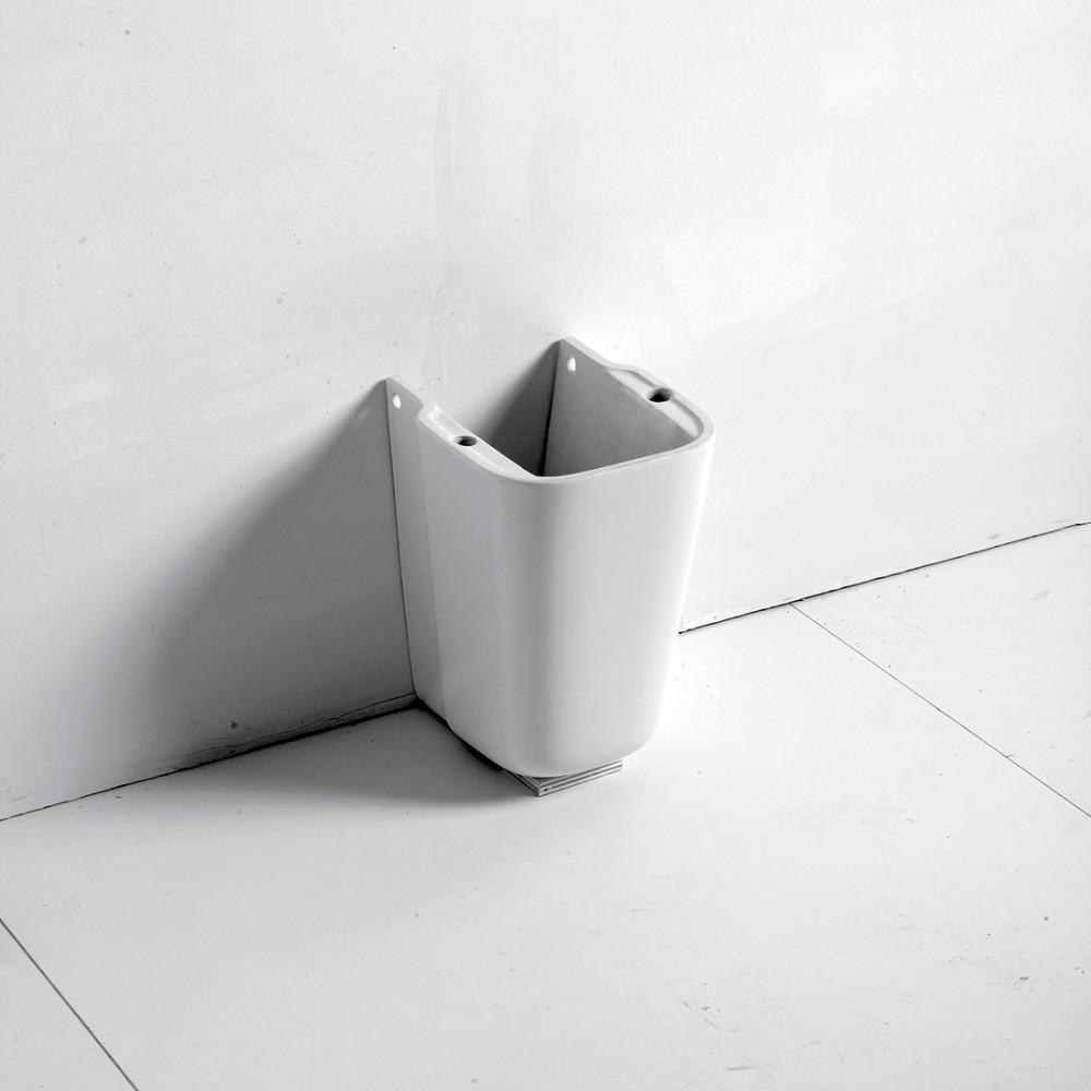 columna debajo del lavabo del baño Olympia ceramica