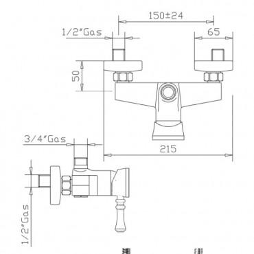 robinets de salle de bain design Gaboli Flli Rubinetteria