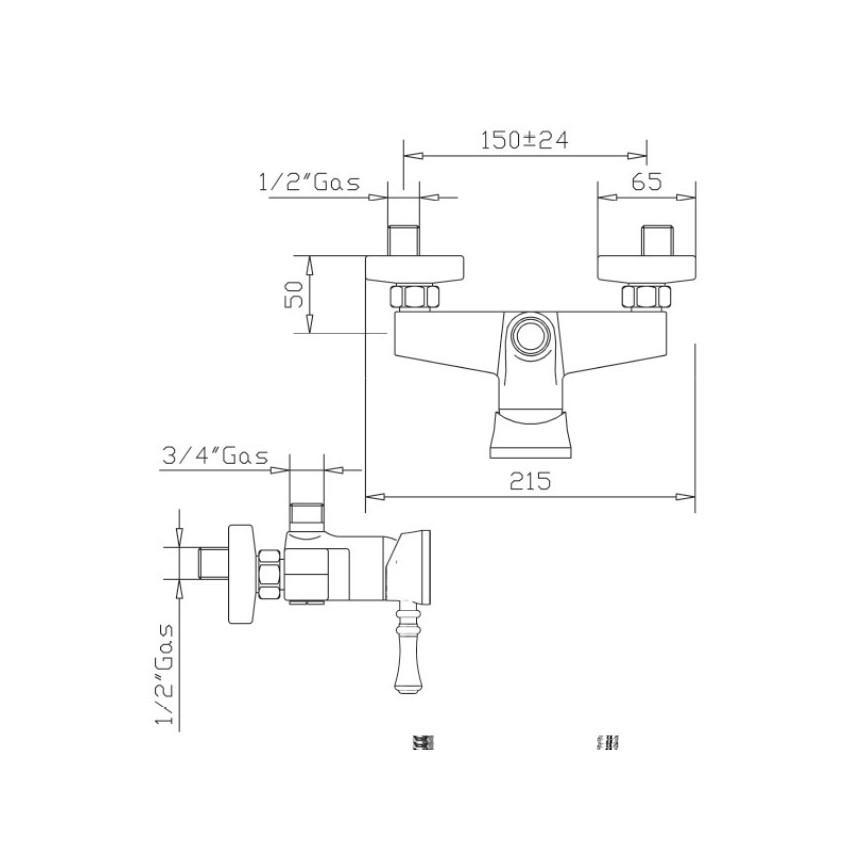 rubinetterie bagno design Gaboli Flli Rubinetteria Betty 5426