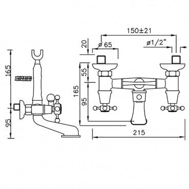 rubinetti vasca da bagno Gaboli Flli rubinetteria