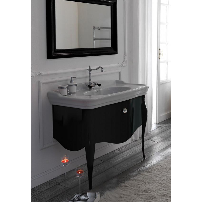 lavandino bagno con mobile classico 100 Impero Olympia Ceramica