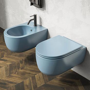articles sanitaires colorés bon marché Milady Olympia Ceramica