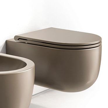 braune Badezimmervase WC Milady Olympia Ceramica