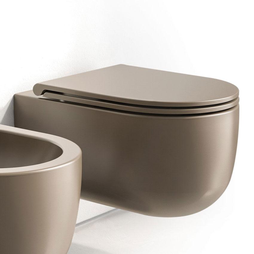 vase de salle de bain marron wc Milady Olympia Ceramica