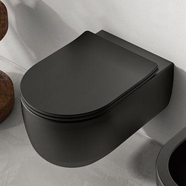 Mattschwarzes Wand-WC Milady Olympia Ceramica