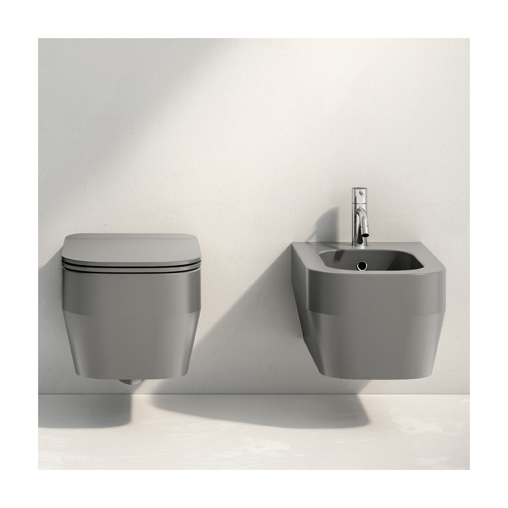 sanitaire de salle de bain gris suspendu Rimless Tutto Evo Olympia Ceramica