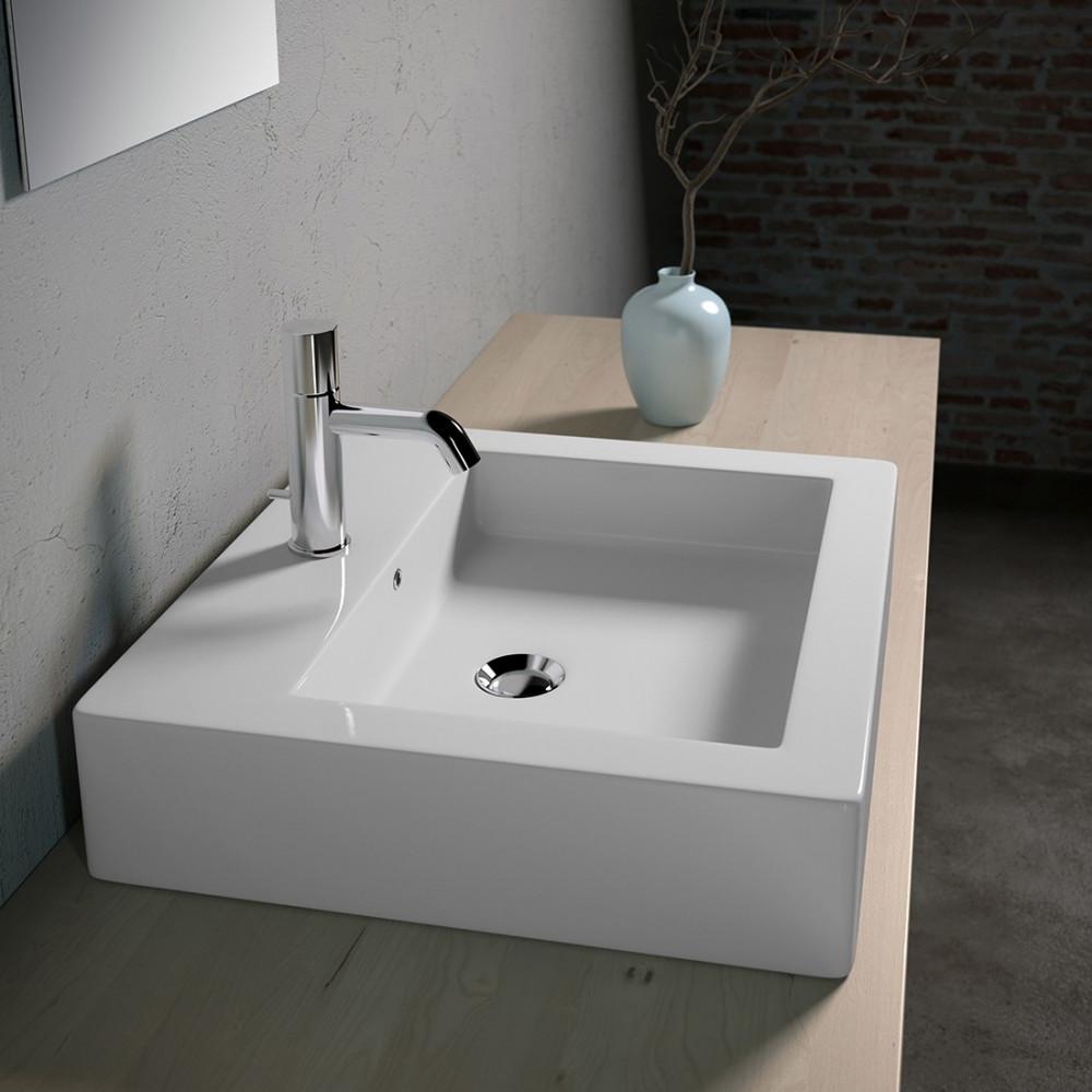 Specchio Per Lavandino Angolare lavabo sospeso rettangolare lavello d'appoggio vesna olympia