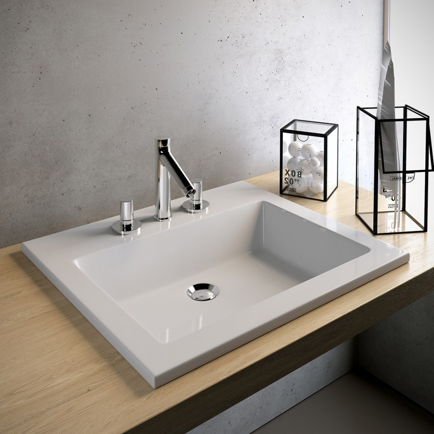 Olympia ceramica built-in bathroom sinks