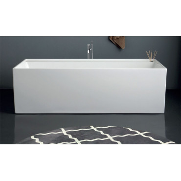 Baignoire rectangulaire sur pied en acrylique Quadra 180