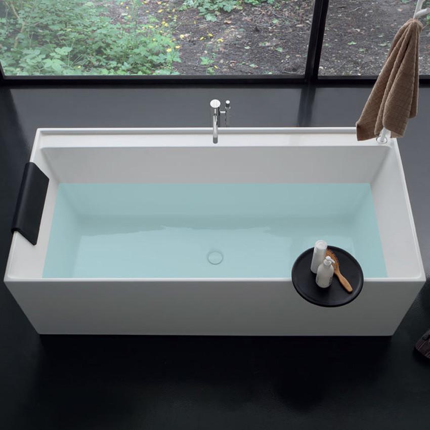 Vasca da bagno rettangolare centro stanza in acrilico ...