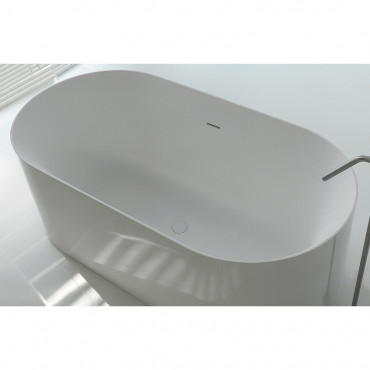 bañera independiente de mineral compuesto Hoop 160