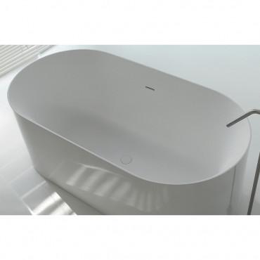freistehende Mineralwerkstoff-Badewanne Hoop 160