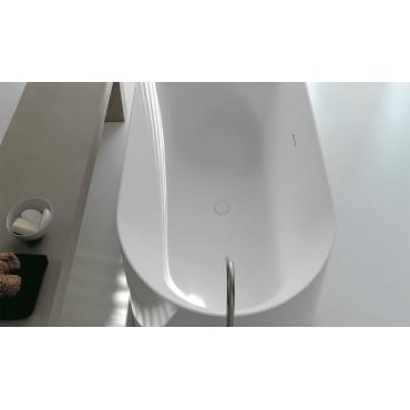 vasca ovale freestanding in solid surface Hoop 160