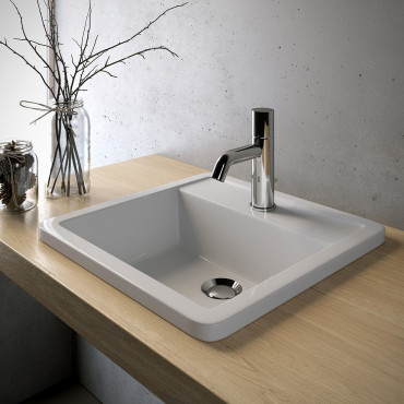 Square built-in washbasin...