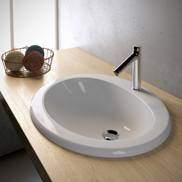 Olympia oval built-in washbasin