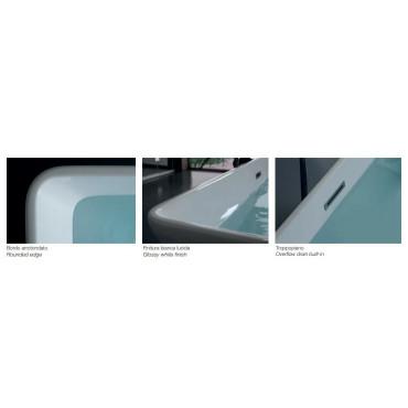 Iris 160 rectangular bathtub details