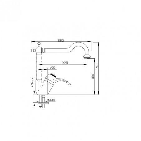 rubinetti cucina ottone anticato Gaboli Flli Rubinetteria