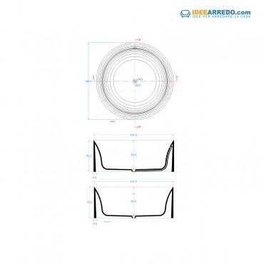 vasca rotonda dimensioni Round 140