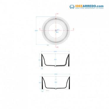 Baignoire ronde diamètre 120 Solid Surface autoportante Round 120