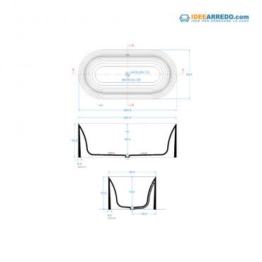 vasca da bagno ovale dimensioniHoop 160