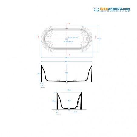 baignoire ovale Hoop 160