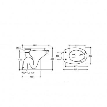 Wc per disabili vaso a terra Ital-Secure by Goman