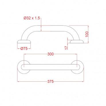 Maniglia per disabili 30 cm Ital-Secure by Goman