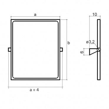 Dimensioni specchio reclinabile per disabili Ital-Secure by Goman