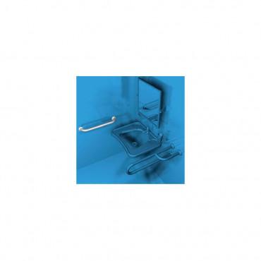 Exemple de positionnement de la barre d'appui pour salle de bain Ital-Secure by Goman pour personnes handicapées
