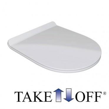 Inodoro transparente Olympia a ras de pared con desagüe en el suelo