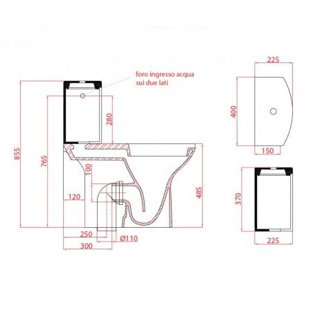 toilettes pour handicapés taille Goman