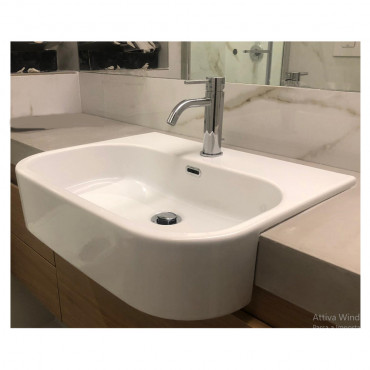 Synthesis semi-recessed sink