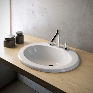 Olympia Ceramica built-in washbasins