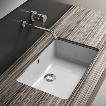 built-in washbasin prices - Olympia Ceramica rectangular under-counter washbasins
