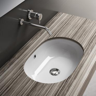 vasques sous plan ovales - Vasque à encastrer Olympia