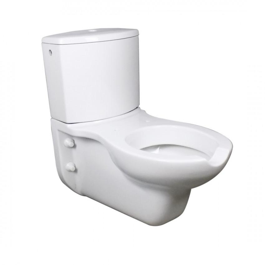 Vaso disabile sospeso, wc disabili con cassetta esterna Goman