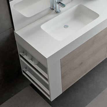 meuble de salle de bain suspendu design Blues 2.0 BMT Bagni
