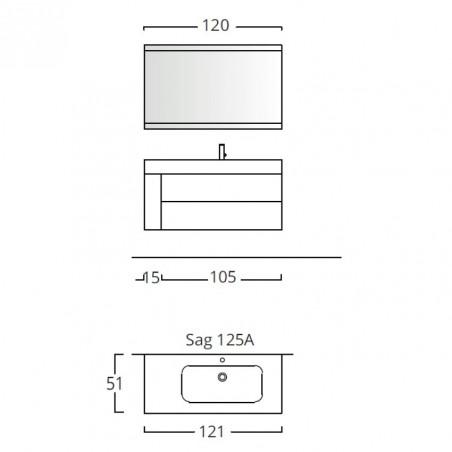 meuble de salle de bain design Blues 2.0 BMT Bagni