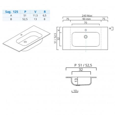 meuble vasque de salle de bain design Blues 2.0 BMT Bagni
